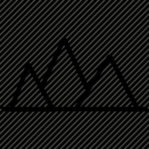landscape, mountain, mountains, nature icon