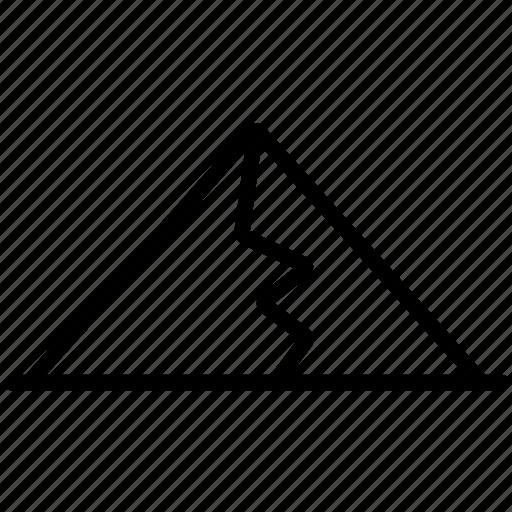 mountain, mountains, peak icon