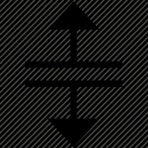 cursor, mouse, split, vertical icon