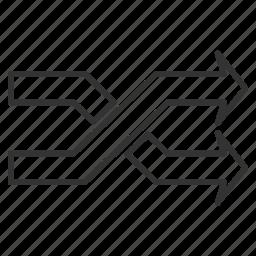 flip, horizontal direction, interact, mix arrows, random, replace, shuffle icon