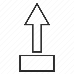direction, move up, navigation arrow, pointer, pull, send, transfer icon