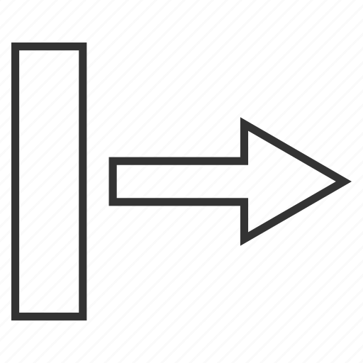 direction, move right, navigation arrow, pointer, pull, send, transfer icon