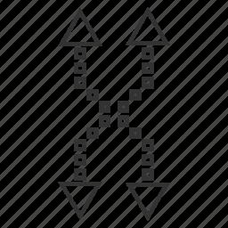 exchange, flip, mix, random, replace, shuffle arrows, vertical icon