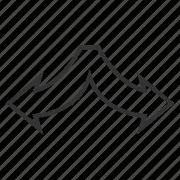 choice, connection, divide, junction, left right, navigation, split arrows icon