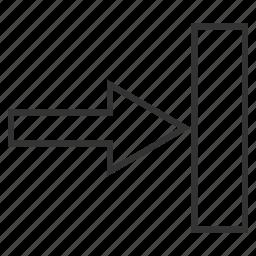 arrow, direction, move, next, push right, send, transfer icon