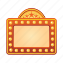 board, cinema, film, movie, sign icon