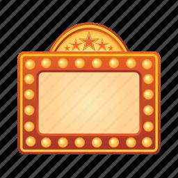 board, cinema, film, movie, sign icon