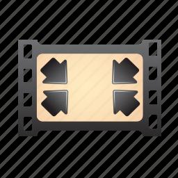 frame, full, image, minimize, reduce, screen, shrink icon