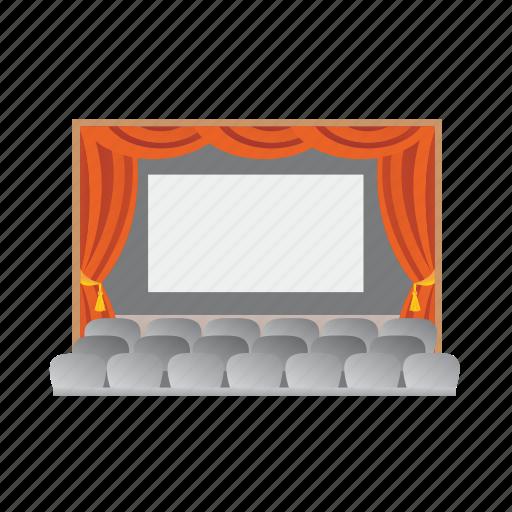 cinema, entertainment, stage, teatre, theater, theatre icon