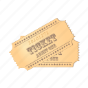 cinema, film, movie, paper, ticket icon