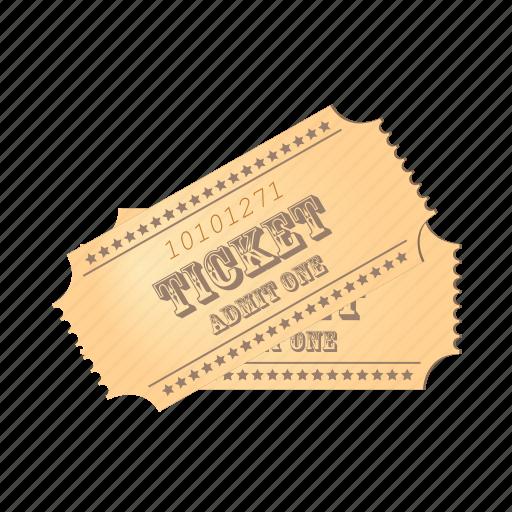 cinema, film, movie, paper, ticket icon