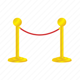 border, premium, rope, vip icon