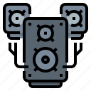 music, sound, stereo, system icon