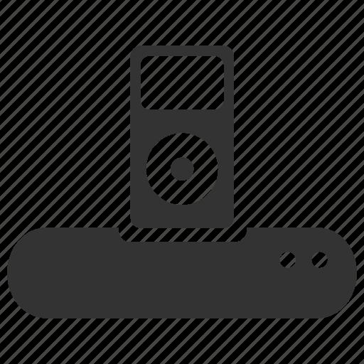 charging, dock, ipod dock, ipod docking, ipod docking station, songs, speaker icon