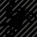 action, motorbike, motorcycle, rider, stunt, wheel icon