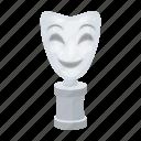 award, cinema, festival, film, mask, prize, theater