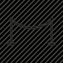 movie rope, red carpet, velvet rope, vip, vip area, vip rope icon