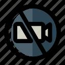 cinema, film, no filming, theater, video icon