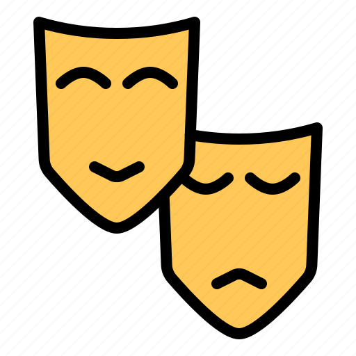 cinema, entertainment, face, mask, movie icon