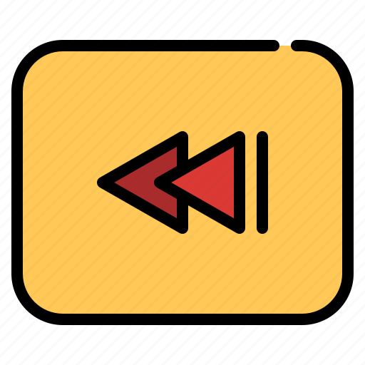 back, cinema, entertainment, movie, rewind icon