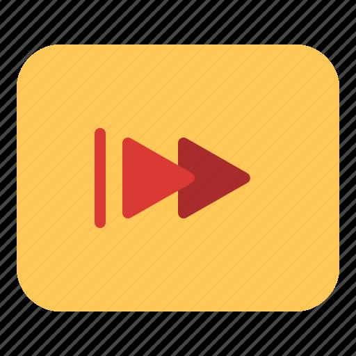 Cinema, entertainment, fastforward, movie icon - Download on Iconfinder