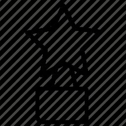 revard, star, statuette icon