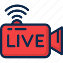 live, livestream, media, play, player, stream, video icon