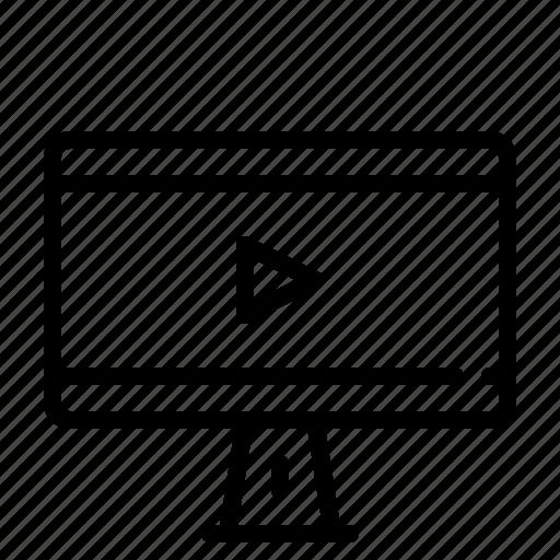 cinema, display, entertainment, monitor, movie icon
