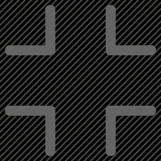 exit fullscreen, fullscreen, minimize icon
