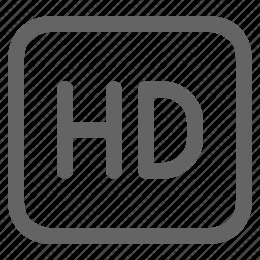 hd, high definition, resolution icon
