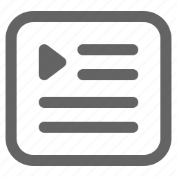 list, movie, playlist icon