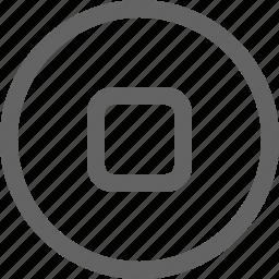 movie, music, stop icon