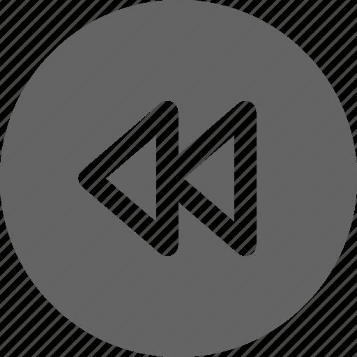 backward, decrease speed, rewind icon