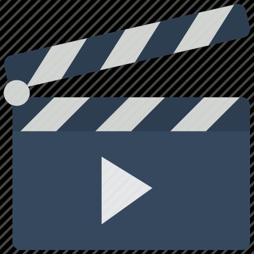 cinema, clapper, film, movie, movies, play icon