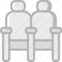 cinema, film, movie, movies, seats icon
