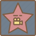 cinema, film, hollywood, movie, movies, star icon