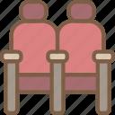 cinema, film, movie, movies, seats icon
