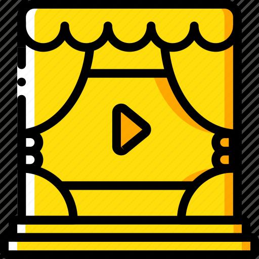 Cinema, curtains, film, movie, movies icon - Download on Iconfinder
