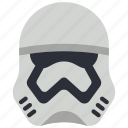 film, movie, movies, star wars, storm, trooper icon
