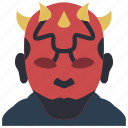 darth, film, maul, movie, movies, star wars icon