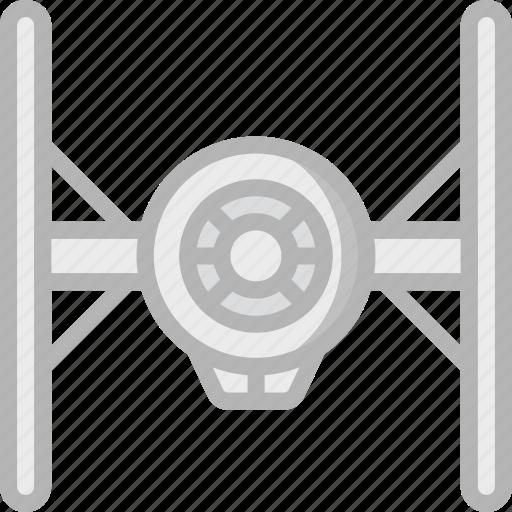 fighter, film, movie, movies, star wars, tie icon