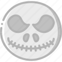 cinema, film, jack, movie, movies, skelenton icon