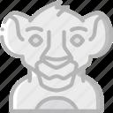 cinema lion king, film, movie, movies, simba icon