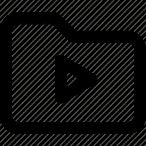 cinema, film, folder, movie, video icon