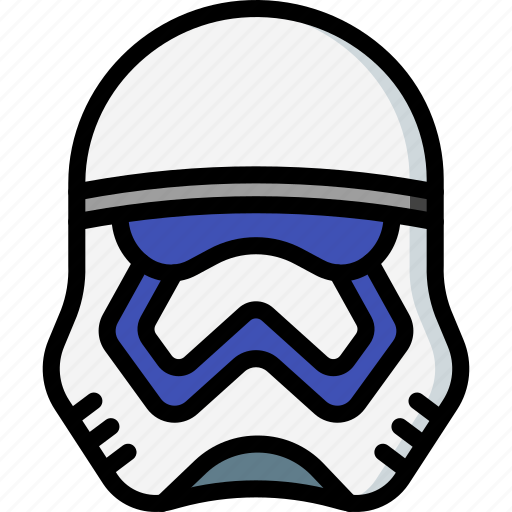 film, movie, movies, star wars, storm, trooper icon