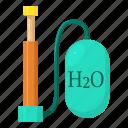 air, bicycle, cartoon, device, hand, oxygen, pump
