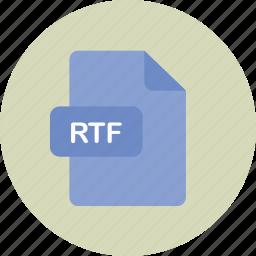 file, rich, rtf, text icon