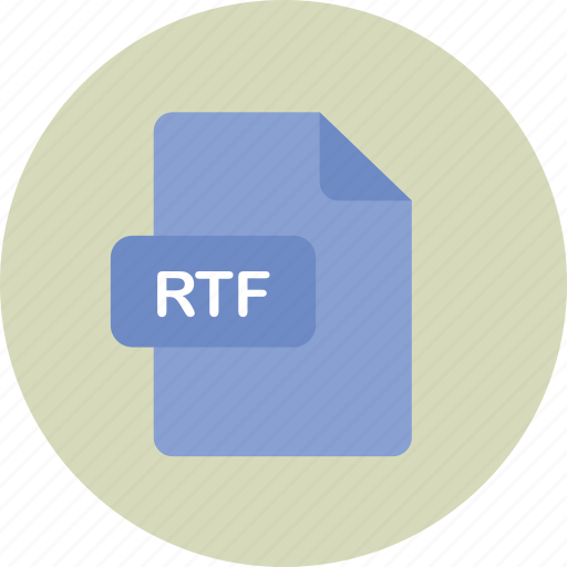 file, rich, rtf, text icon