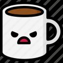 angry, emoji, emotion, expression, face, feeling, mug icon