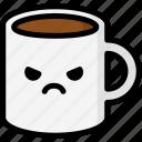 angry, emoji, emotion, expression, face, feeling, mug